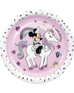Minnie Unicorn Paper Plates