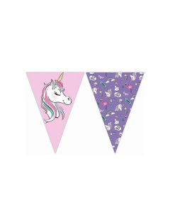 Minnie Unicorn Triangle Flag Banner
