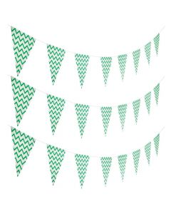 Mint Green Chevron Pennant Banner