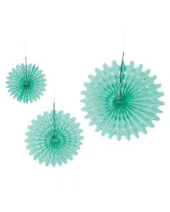Mint Green Tissue Hanging Fans