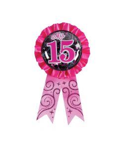 Mis Quince Anos Confetti Award Ribbon