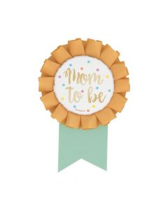 Mom-to-Be Gold Foil Badge