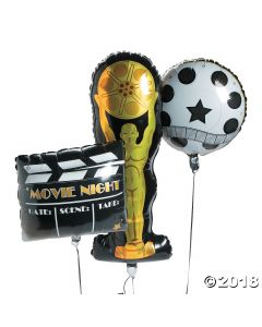 Movie Night Mylar Balloons