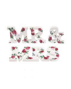 Mr. and Mrs. Tabletop Floral Sign Set