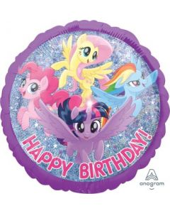 My Little Pony Friendship Adventure Happy Birthday Holographic Balloon