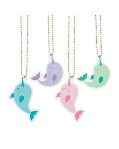 Narwhal Dog Tag Necklaces