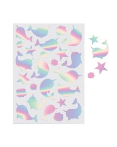 Narwhal Foil Sticker Sheets