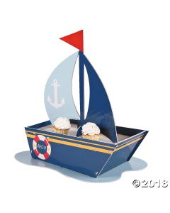 Nautical Baby Shower Cupcake Stand