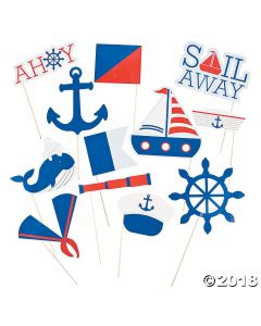 Nautical Birthday Party Photo Stick Props