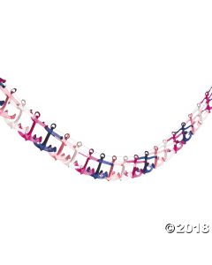 Nautical Girl Anchor Garland