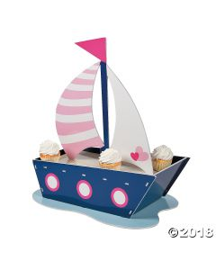 Nautical Girl Cupcake Stand