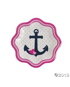 Nautical Girl Paper Dessert Plates