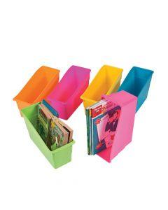 Neon Classroom Book Organizers