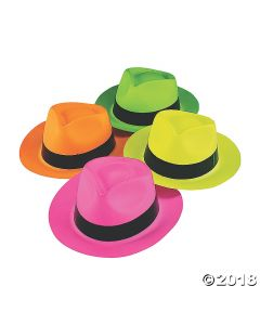 Neon Gangster Hats Assortment