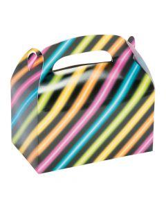 Neon Glow Party Treat Boxes