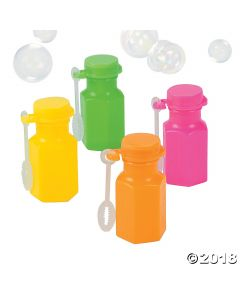 Neon Hexagon Bubble Bottles