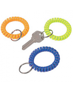 Neon Coil Keychains