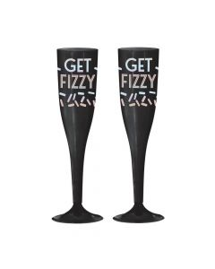 New Year's Eve Disco Ball Plastic Champagne Glasses