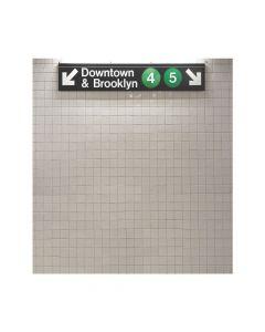 New York City Subway Plastic Backdrop