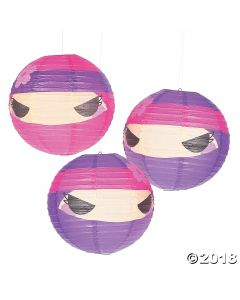 Ninja Girl Hanging Paper Lanterns