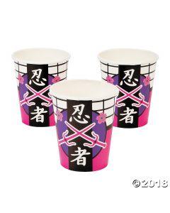 Ninja Girl Paper Cups