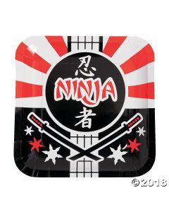 Ninja Warrior Paper Lunch Plates