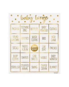 Oh Baby Gold Bingo Game