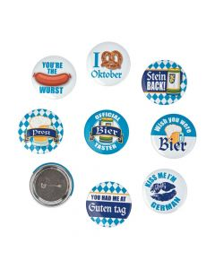 Oktoberfest Party Button