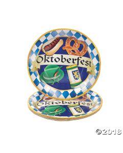 Oktoberfest Party Paper Dinner Plates