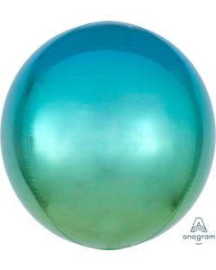 Ombre Blue & Green Orb Balloon