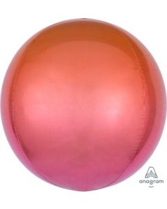 Ombre Red & Orange Orb Balloon