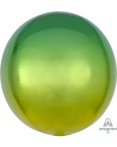 Ombre Yellow & Green Orb Balloon