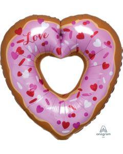 Open Heart Donut Super Shape Balloon