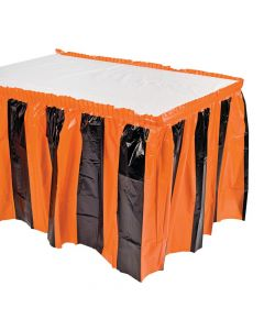 Orange and Black Table Skirt