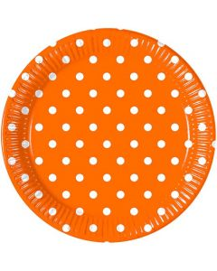 Orange Dots Lunch Plate