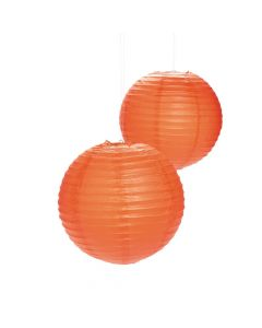 Orange Hanging Paper Lanterns