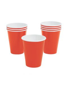 Orange Paper Cups 24PCS