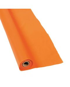 Orange Plastic Tablecloth Roll
