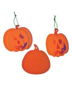 Orange Pumpkin Magic Color Scratch Ornaments