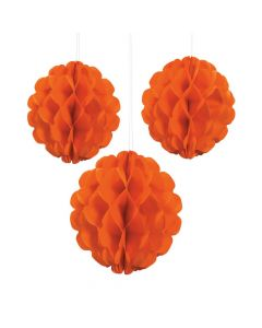Orange Pumpkin Puree Tissue Balls