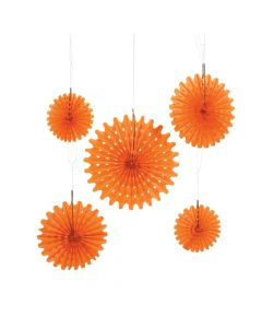 Orange Pumpkin Puree Tissue Hanging Fans