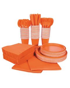 Orange Tableware Kit for 48