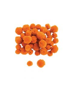 Orange Yarn Pom-Poms