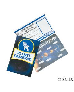 Outer Space Passport Sticker Books