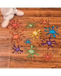 Paint Splatter Floor Decals