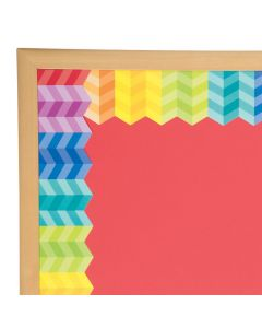 Painted Palette Rainbow Herringbone Bulletin Board Border
