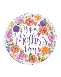 Painted Spring Floral Mother's Day Mylar Balloon