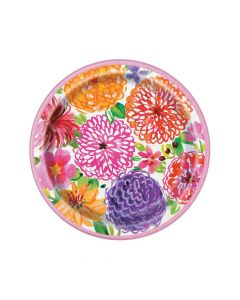 Painted Spring Floral Paper Dinner Plates