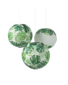Palm Leaf Hanging Paper Lanterns