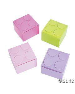 Pastel Colour Brick Favour Boxes